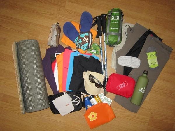 Cosas para llevar en la mochila del Camino de Santiago