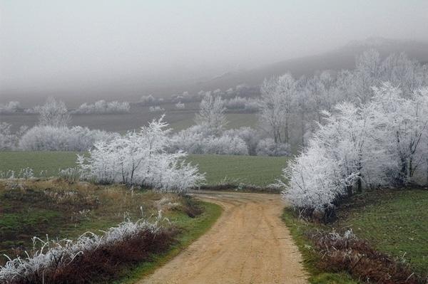 Los paisajes son una de las principales recompensas de hacer el Camino de Santiago en invierno.