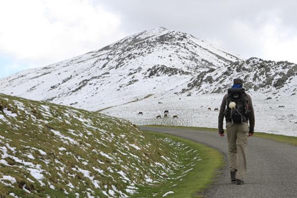 En los meses de invierno el Camino de Santiago se convierte en una ruta poco transitada.