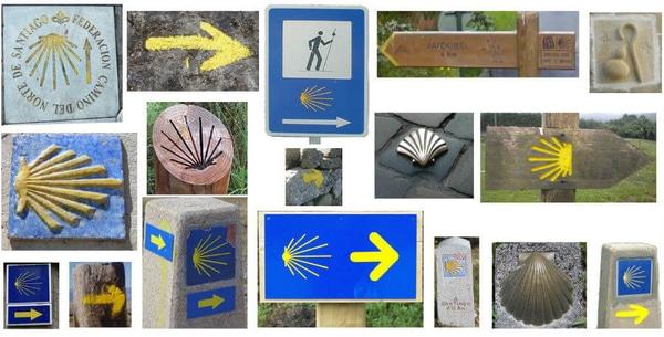 Tricks for the signals of the Camino de Santiago