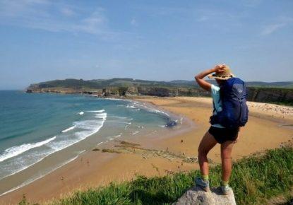 The sea on the Camino de Santiago del Norte