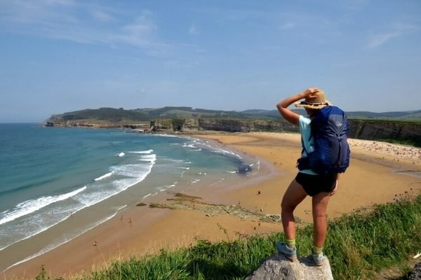 The sea on the Camino de Santiago del Norte