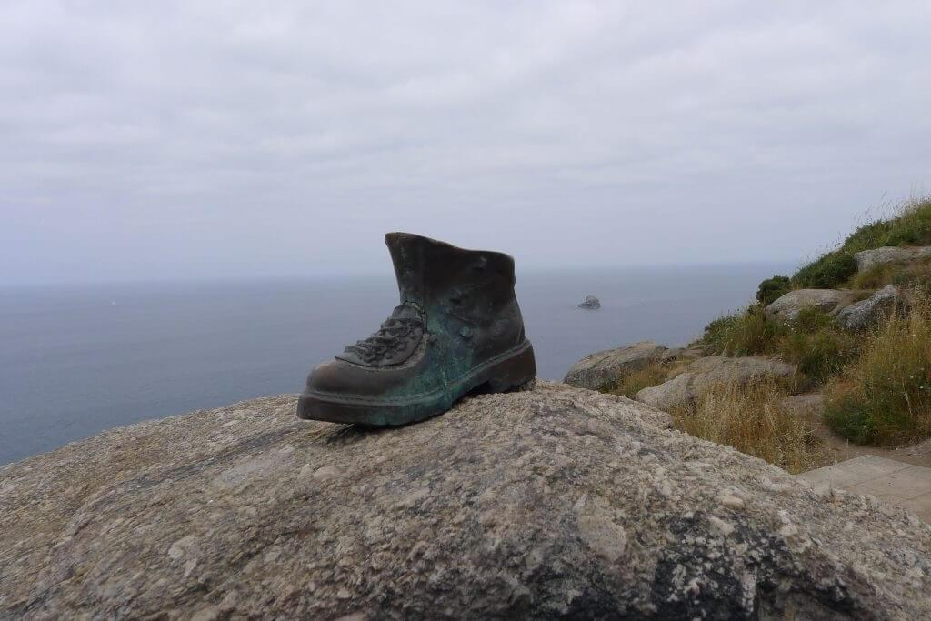 Boot sculpture in Finisterre