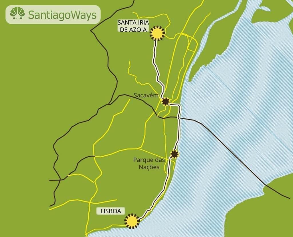 Mapa de Lisboa a Santa Iria de Azoia