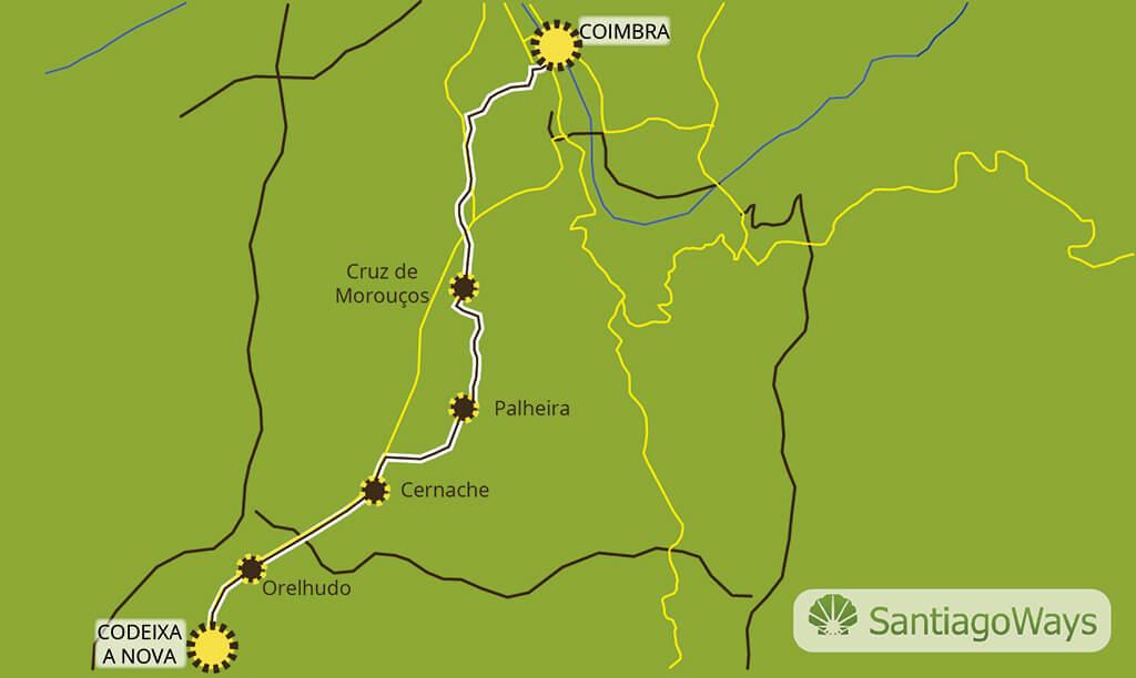 Mapa de Codeixa a Coimbra