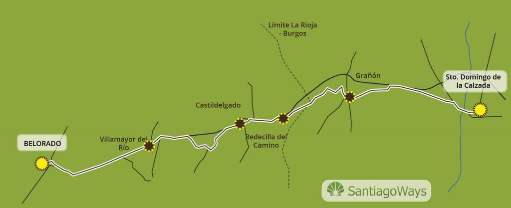 Mapa Santo Domingo de la Calzada a Belorado