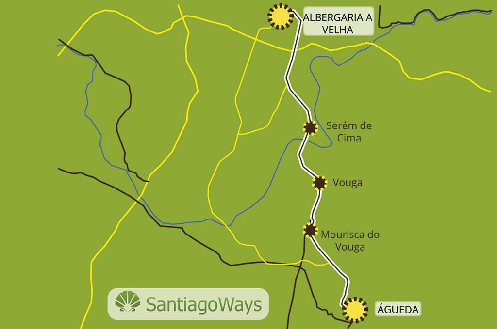 Mapa Agueda a Albergaria A Velha