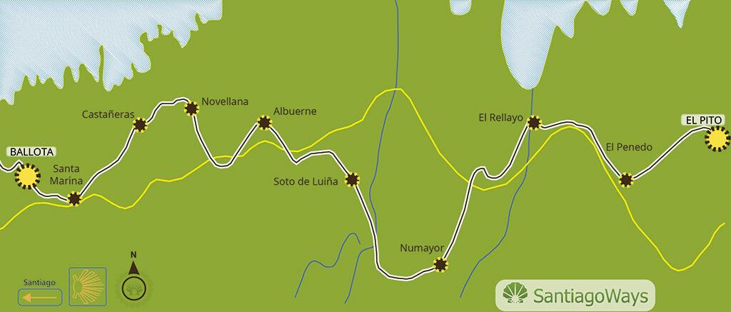 Mapa etapa de El Pito a Ballota