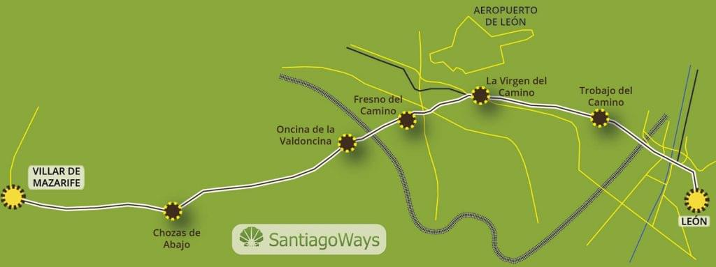 Mapa Leon a Villar de Mazarife