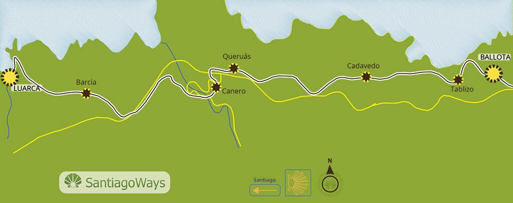 Mapa etapa de Ballota a Luarca