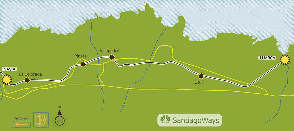 Mapa etapa de Luarca a Navia