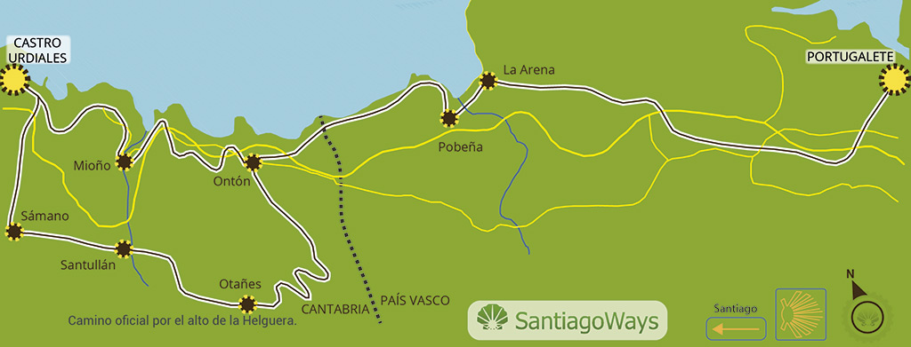 Mapa etapa de Portugalete a Castro Urdiales