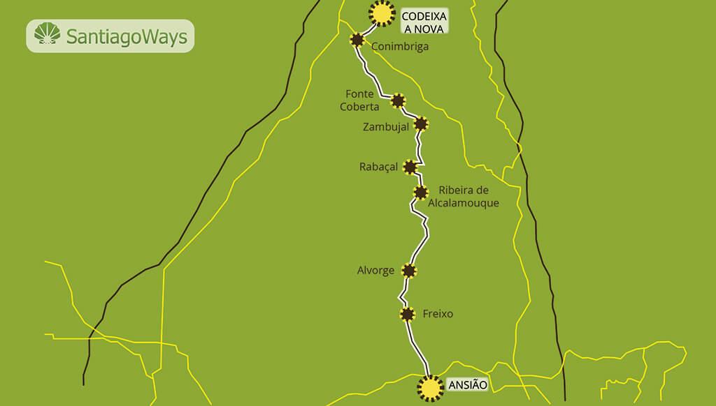 Mapa de Ansiao a Codeixa