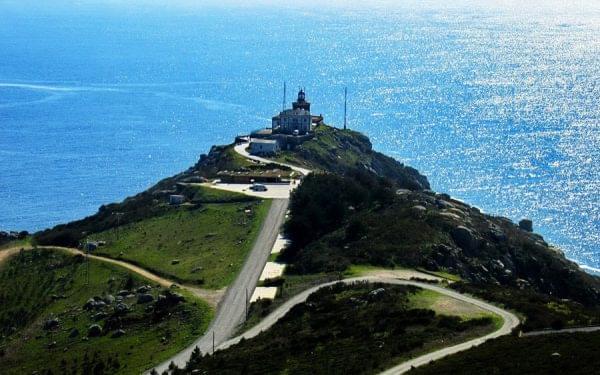 Vista panoramica del Faro de Fisterra