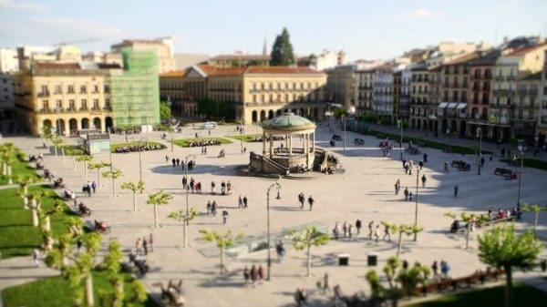Panoramica de la Plaza del Castillo