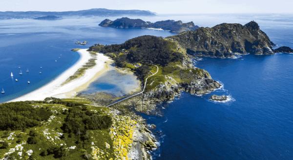 Vista panoramica de las Islas Cies