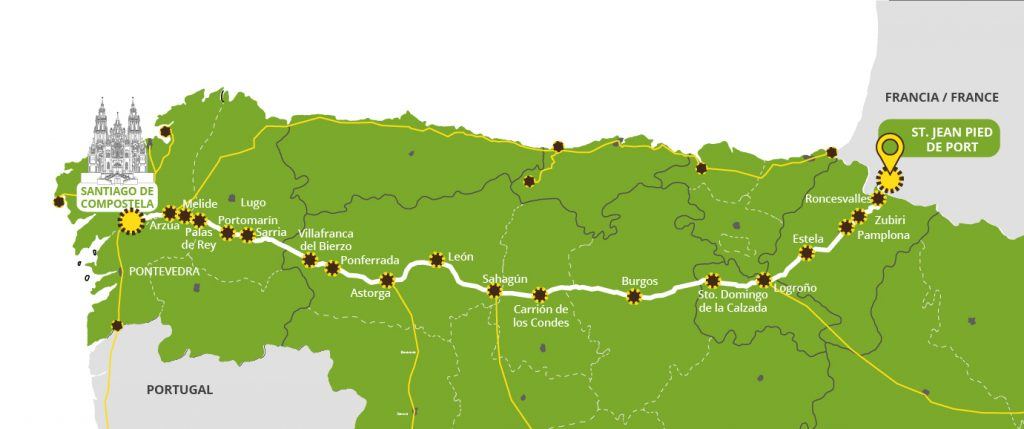 ▷ The Camino Frances . Routes, Stages & Maps | [Official Santiago Camino Frances Map Route on