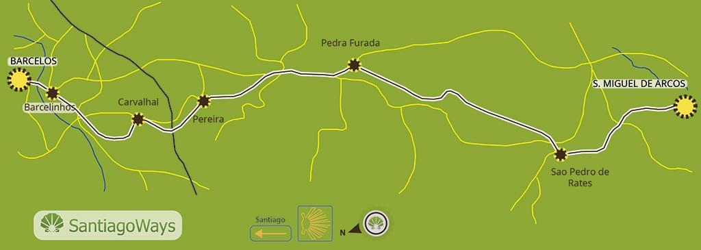 Mapa etapa de Arcos a Barcelos
