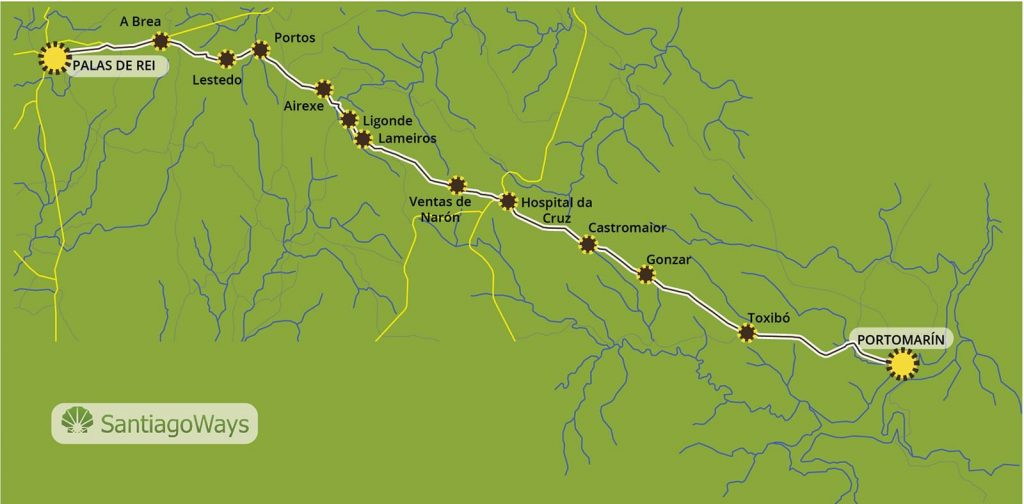 ▷ The Camino de Santiago from Sarria | Routes, Maps ... Map Camino Frances on france country map, home map, france natural resources map, gibraltar map, pilgrimage map, food of france regions map, paris france landforms map, burgos map, pyrenees map, hospital map, ponferrada map, france airports map, west france map, spain map, samos map, santiago de compostela map, spanish-speaking country map,