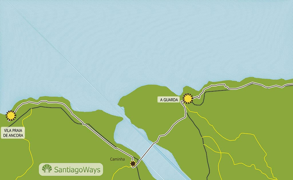 Mapa de Ancora a Guarda