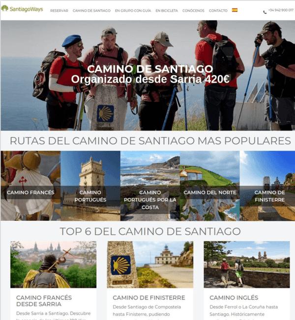 Current website at Santiago Ways