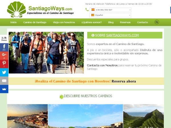 Website von Santiago Ways im Jahr 2016