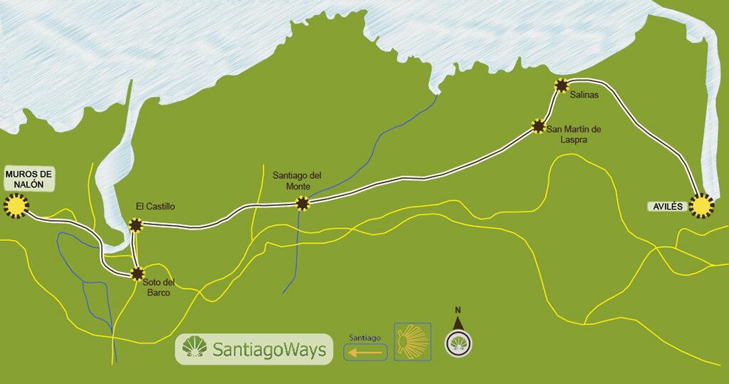 Mapa-Avilés-Muros-de-Nalón