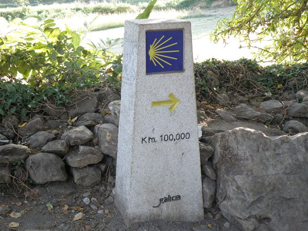 Die letzten 100 km des Jakobsweges