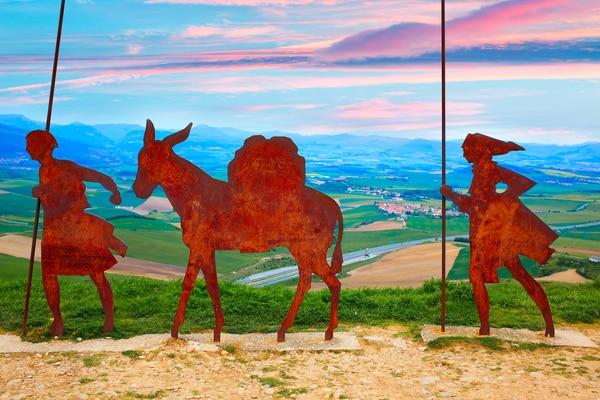 El Camino Francés es una de las sendas de peregrinación más populares.