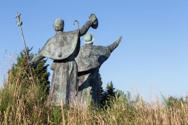 Monumento en el Camino de Santiago