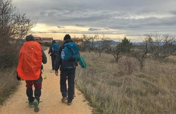 route of Camino de Santiago in march