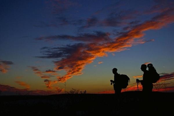 Photos of sunrises on the Camino de Santiago