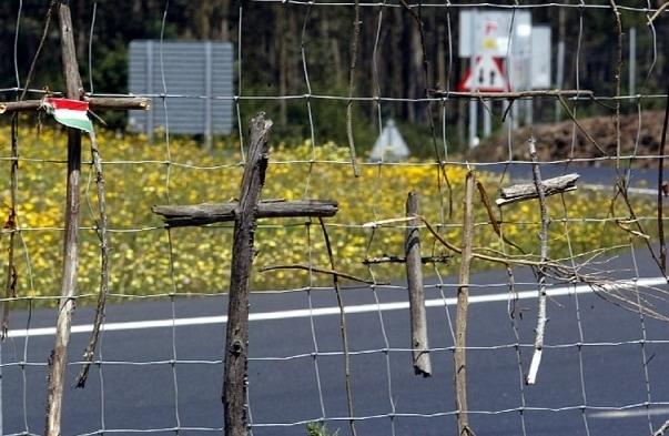 Wooden crosses on the Camino de Santiago