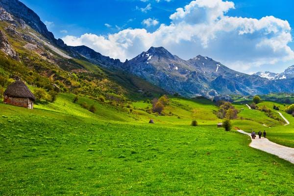 Englischer Weg Frühling und Landschaften
