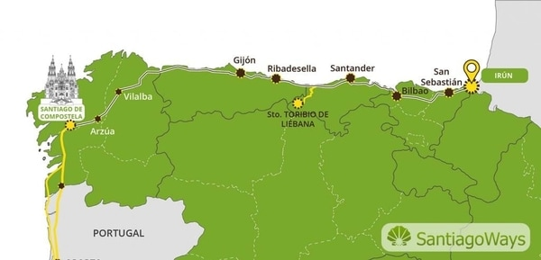 Route of the Camino del Norte
