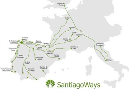 General Map, for the Camino de Santiago