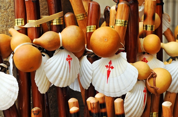 The Camino de Santiago Pumpkin is part of the classic outfit worn by the medieval pilgrim