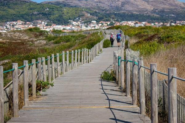 Der portugiesische Küstenweg ist eine der Routen mit der kürzesten Tradition.