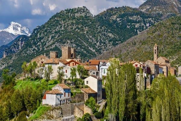 Village on the Camino de Santiago Aragones or Camino Castellano Aragones