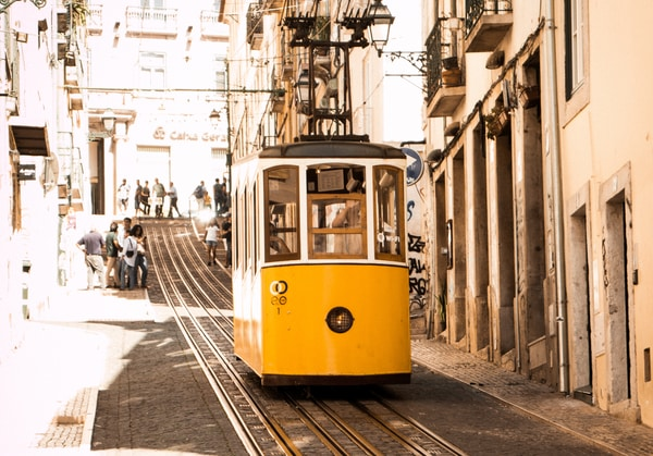 Der zentrale portugiesische Weg beginnt in Lissabon.