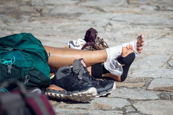 Schuhwerk, um den Jakobsweg im Sommer zu machen