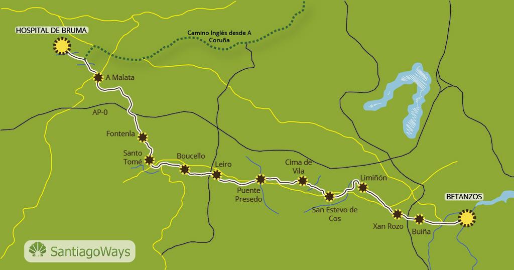 Mapa Betanzos - Bruma Mesón do Vento