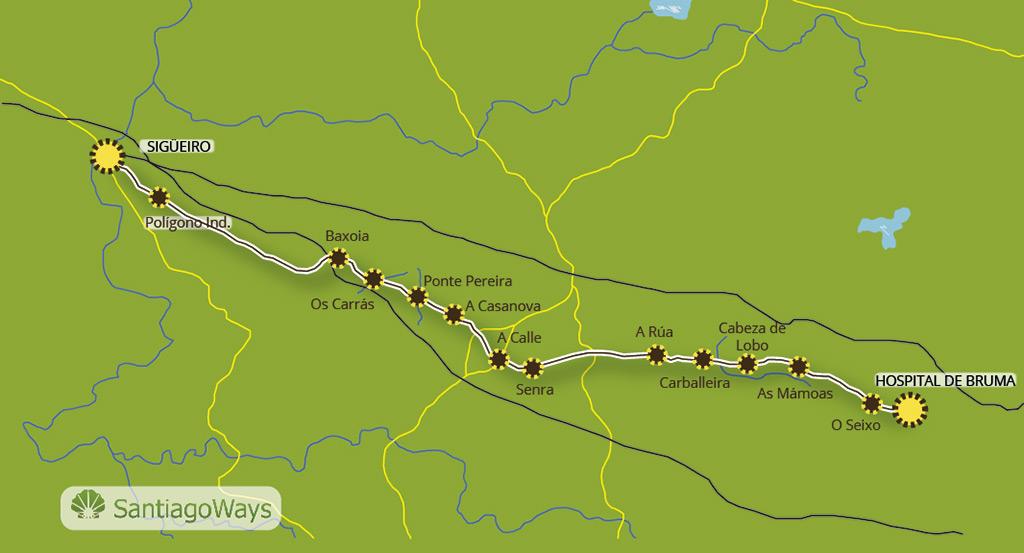 Mapa etapa Bruma Meson do Vento -Sigüeiro