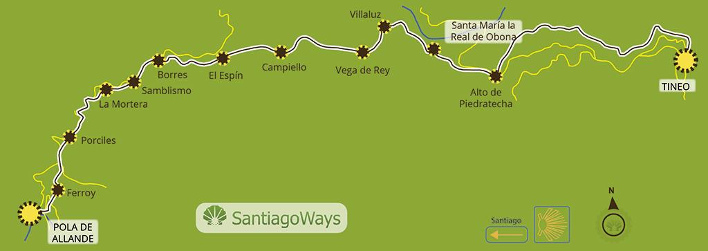 Mapa etapa Tineo - Pola de Allande