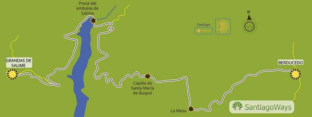 Mapa etapa Berducedo-Grandas-de-Salime