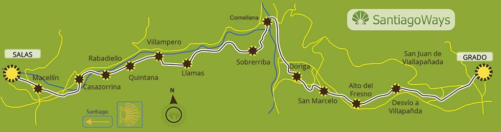 Mapa etapa Grado-Salas