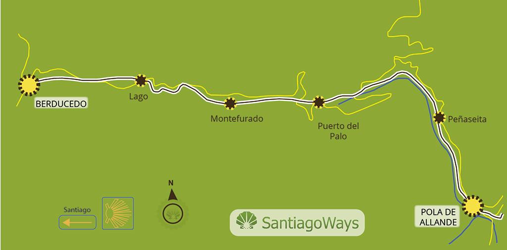 Mapa etapa Pola - Berducedo