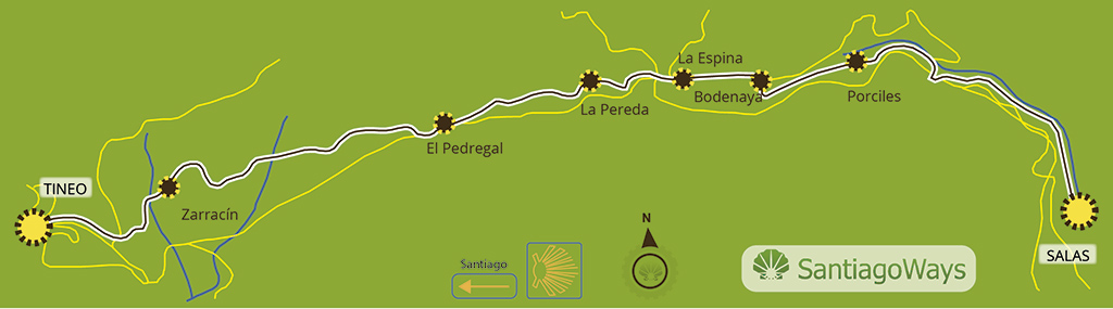 Map stage Salas - Tineo